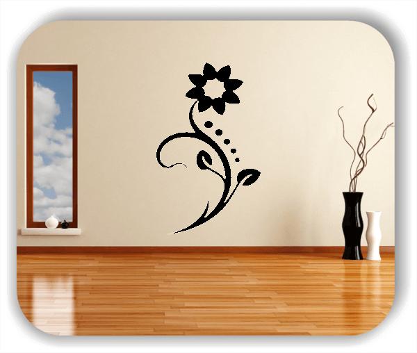 Wandtattoo - Florale Blumen & Blätter - Motiv 61