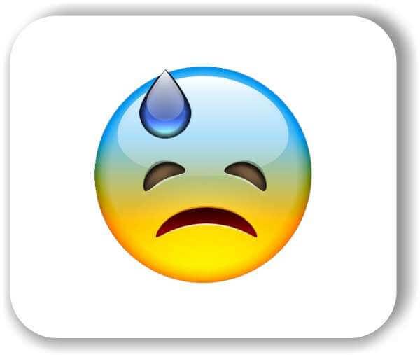 Strichgesicht - Schockiertes, trauriges Gesicht