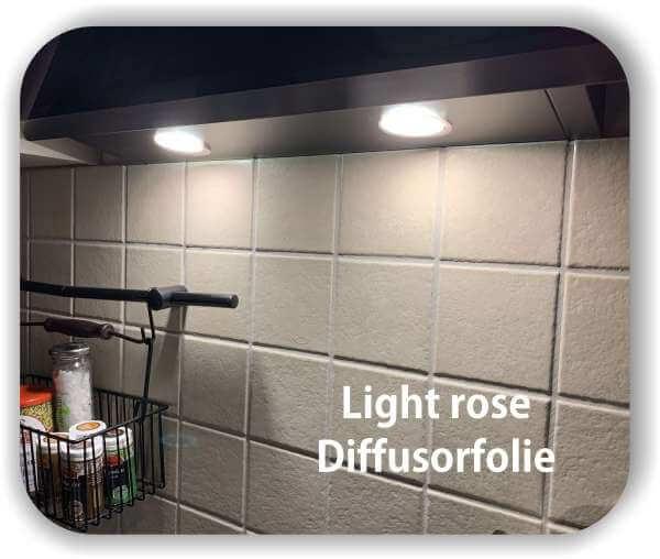 Zuschnitt LED Tönungsfolie Warmlichtfilter Rosé - LED Farbfolie