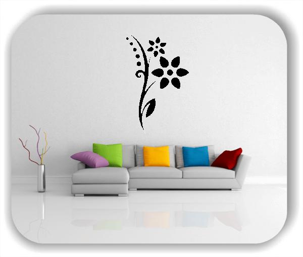 Wandtattoo - Florale Blumen & Blätter - Motiv 58