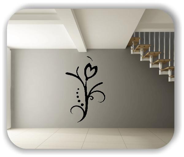 Wandtattoo - Florale Blumen & Blätter - Motiv 76