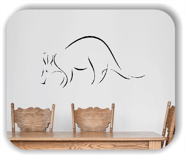Wandtattoo - Tier Silhouette - ab 50x25 cm - Nasenbär