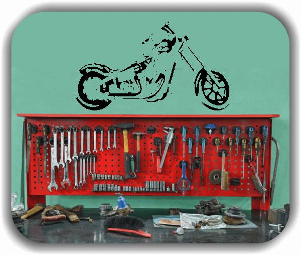 Wandtattoo - ab 50x28 cm - Motorrad
