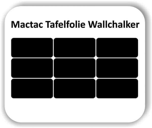 9 Stück 25 x 9,5 cm Tafelfolie Rechteckig Wallchalker