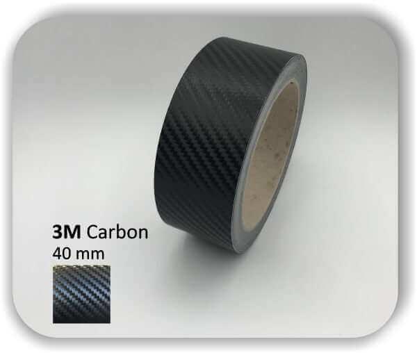3M Zierstreifen Carbon Wrapping Folie 1080 3D-Folie 40mm für Auto Boot Motorrad