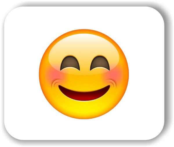 Strichgesicht - Lachendes Gesicht mit lachenden Augen