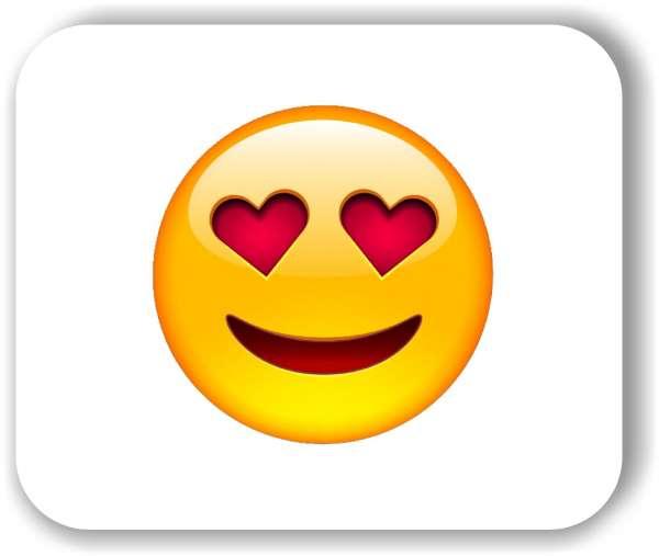 Strichgesicht - Liebes Gesicht mit Herzaugen