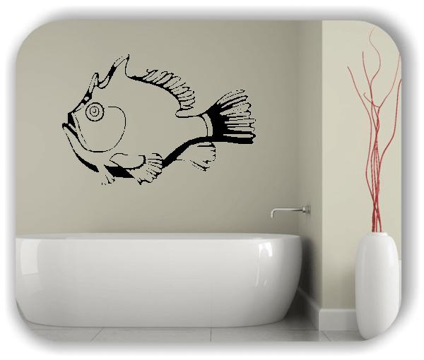 Wandtattoo - ab 50x34 cm - Dicker Fisch