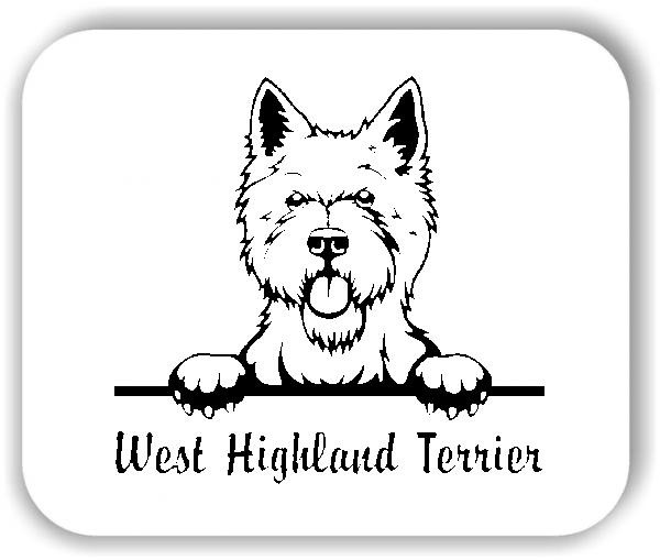 Wandtattoo - Hunde - West Highland Terrier