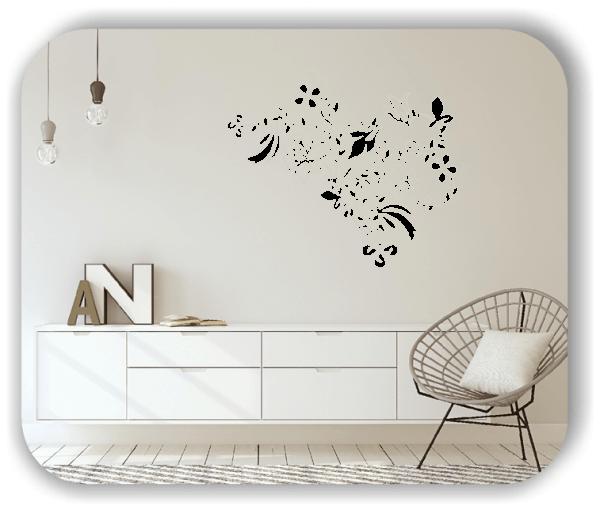 Wandtattoo - Florale Blumen & Pflanzen - ab 50x39,5 cm - Motiv 3032