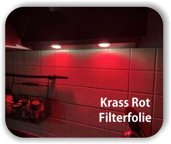 Zuschnitt Krass Rot - LED Filterfolie - LED Tönungsfolie