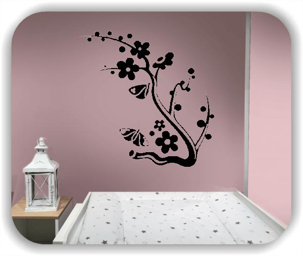 Wandtattoo - China Floral - ab 50x50 cm - Motiv 3167