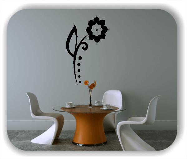 Wandtattoo - Florale Blumen & Blätter - Motiv 74