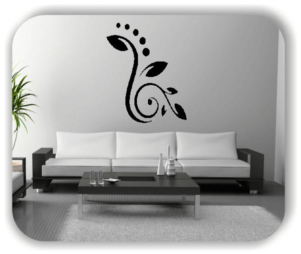 Wandtattoo - Florale Blumen & Blätter - Motiv 44
