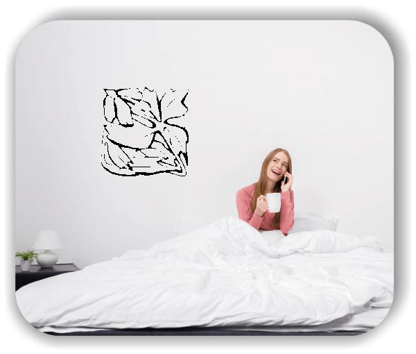 Wandtattoo - Quadratisch Florale Silhouetten - Motiv 23