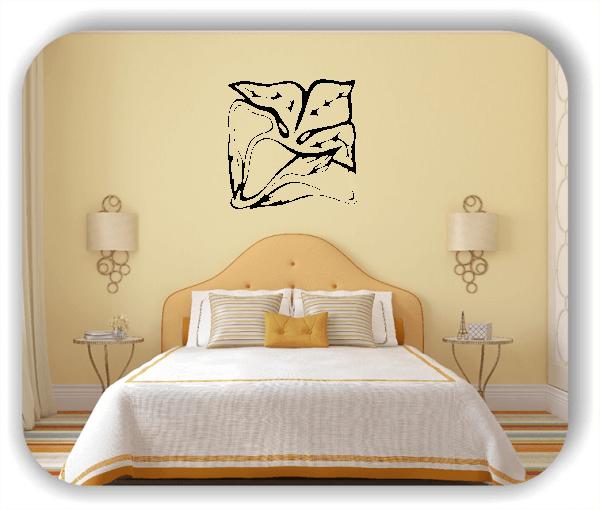 Wandtattoo - Quadratisch Florale Silhouetten - Motiv 30