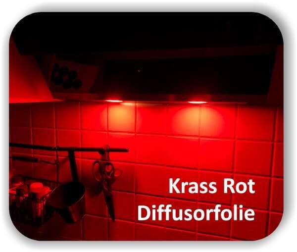 Zuschnitt Super Krass Rot - LED Diffusorfolie - Streufolie für LED