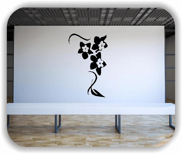 Wandtattoo - Florale Blumen & Blätter - Motiv 2876