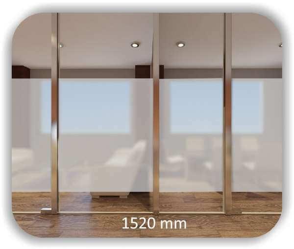 ❤ Durchlaufschutzfolie - Milchig - Höhe: 152 cm - Streifen
