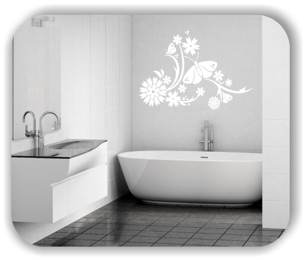 Wandtattoo - China Floral - ab 50x35 cm - Motiv 3132
