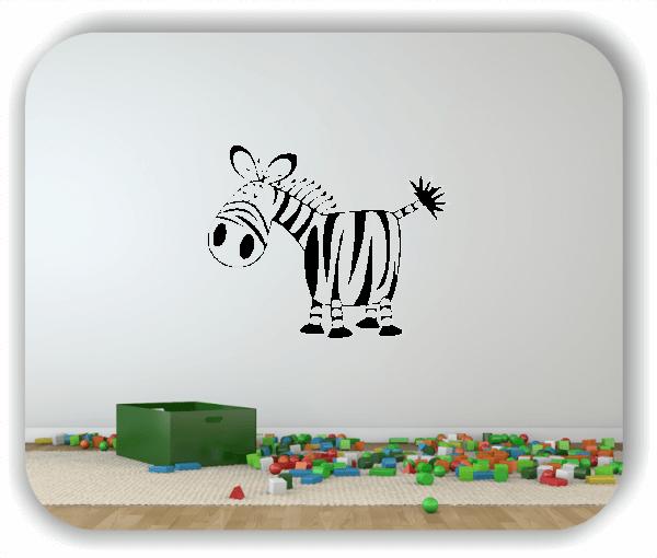 Wandtattoo - Witziges Zebra