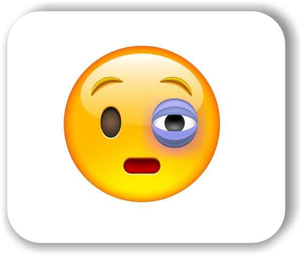 Strichgesicht - Gesicht mit blauem Auge
