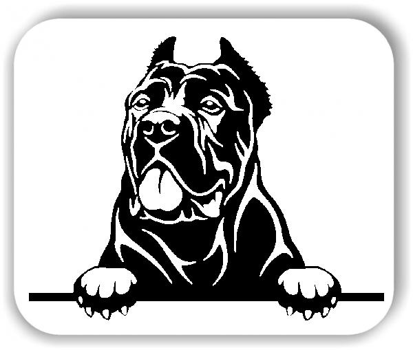 Wandtattoo - Hunde - Kanarische Dogge Variante 4 - ohne Rassename