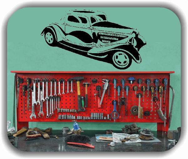 Wandtattoo - ab 50x28 cm - Oldtimer Hot Rod