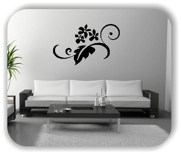 Wandtattoo - Florale Blumen & Blätter - Motiv 2833