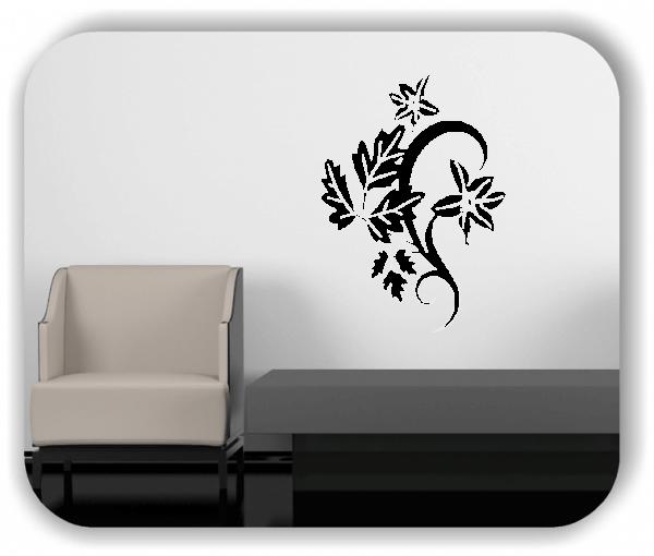 Wandtattoo - Florale Blumen & Blätter - Motiv 2862