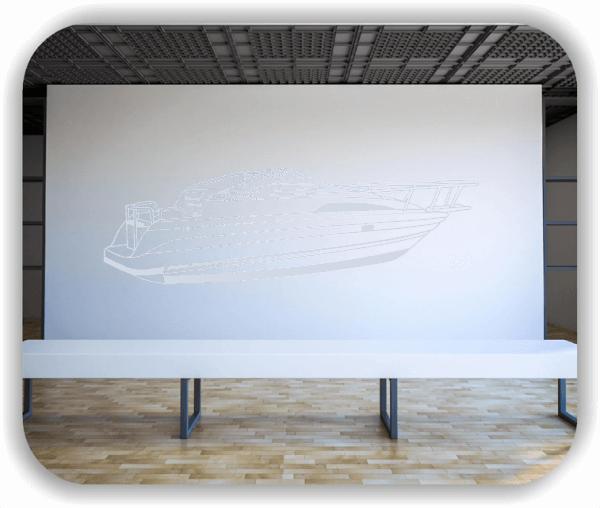 Wandtattoo - ab 60x19 cm - Motorboot