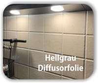 Zuschnitt Warmlicht Folie Hellgrau - LED Filterfolie transparent