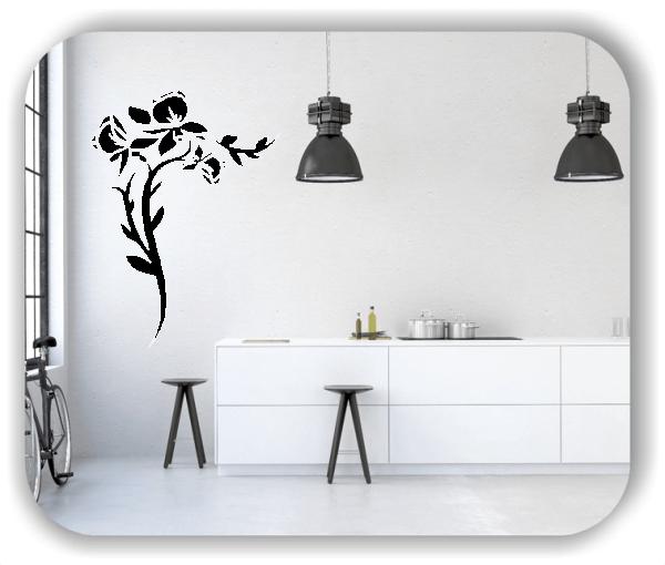 Wandtattoo - Florale Blumen & Blätter - Motiv 2860