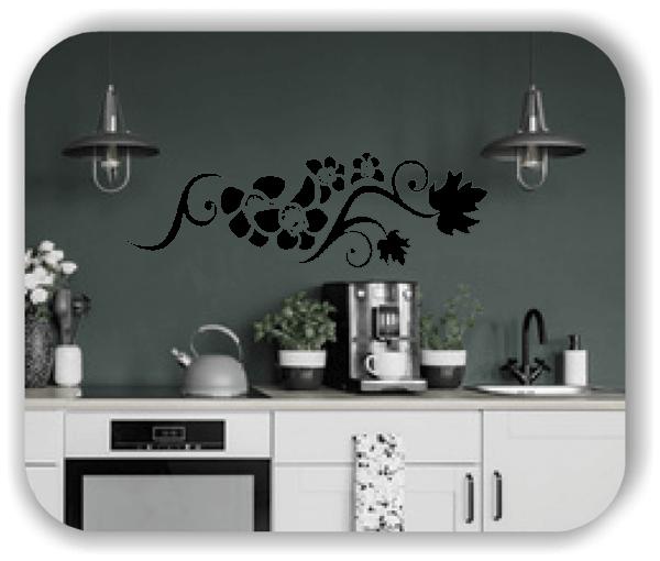 Wandtattoo - Florale Blumen & Blätter - Motiv 2808