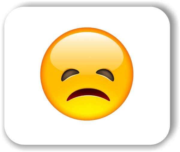 Strichgesicht - Enttäuschtes Gesicht