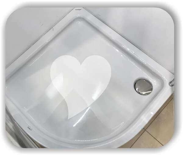Anti-Rutsch Folie - Herz - ab 30x30 cm