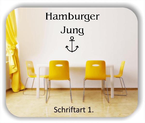 Wandtattoo - Hamburger Jung