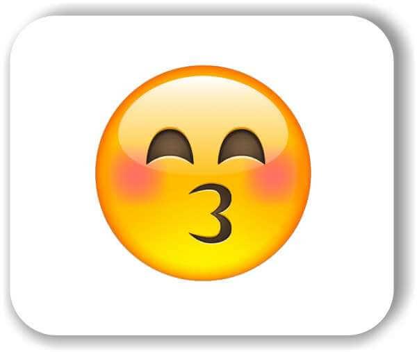 Strichgesicht - Küssendes Gesicht mit lächelnden Augen