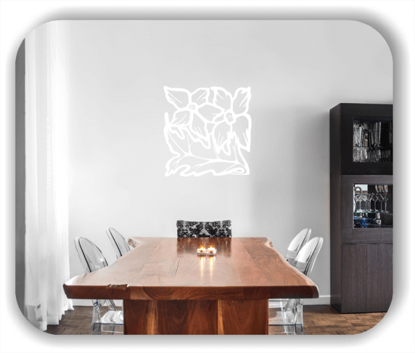 Wandtattoo - Quadratisch Florale Silhouetten - Motiv 46