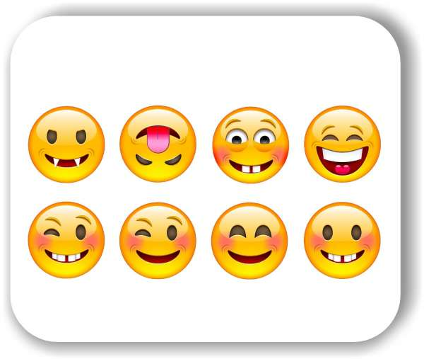Strichgesicht - 8 verschiedene Motive - Freche Gesichter
