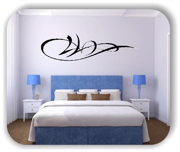 Wandtattoo - Schnörkel Design - ab 60 x 18 cm - Motiv 07