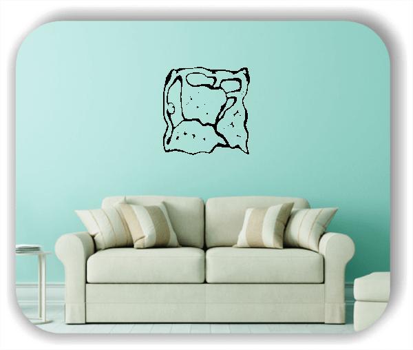 Wandtattoo - Quadratisch Florale Silhouetten - Motiv 33