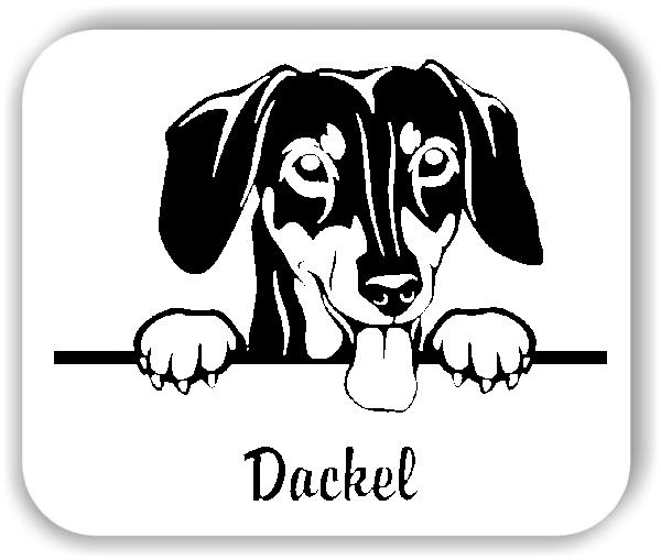Wandtattoo - Hunde - Dackel Variante 2
